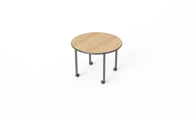 "Round Table with Casters - 42"" Diameter"