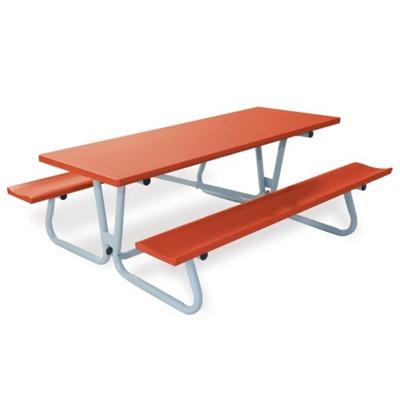 Aluminum Picnic Table With Umbrella Hole   8 Ft   85830 And More Lifetime  Guarantee