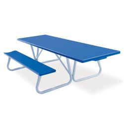 Aluminum Picnic Table with Handicap Access - 8 ft