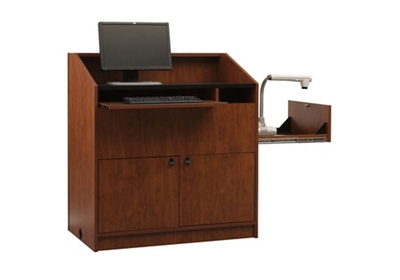 "Two Bay Multimedia Lectern - 48""H"