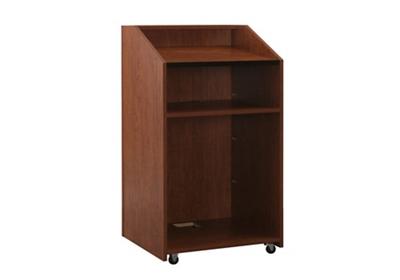 "Floor Lectern With Shelf - 48""H"