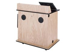 """Compact Multimedia Lectern With Power - 43""""H"""