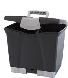 "Portable Letter-Sized File Box - 14""W"