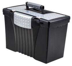 "Letter/Legal Portable File Box - 17""W"