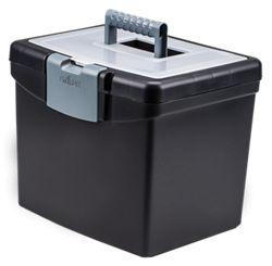 "Letter Sized Portable File Box - 13""W"