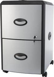 """Letter-Sized Two Drawer Mobile Filing Cabinet - 15""""W"""