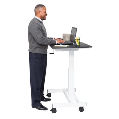 "Standup Desks Manual Height Adjustable Mobile Compact Desk - 40""W"