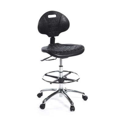 Polyurethane Lab Stool with Foot Ring
