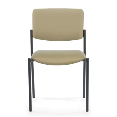 Armless Vinyl Stacking Guest Chair