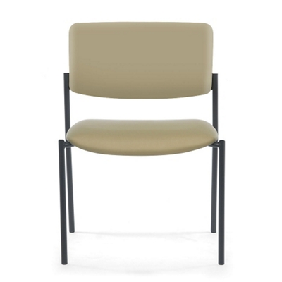 Armless Vinyl Mid-Size Stacking Guest Chair