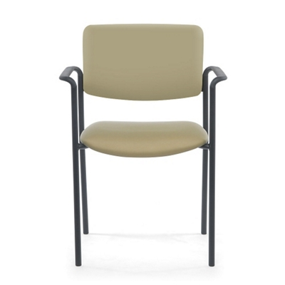 Stacking Vinyl Guest Chair with Arms