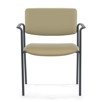 Stacking Mid-Size Vinyl Guest Chair with Arms
