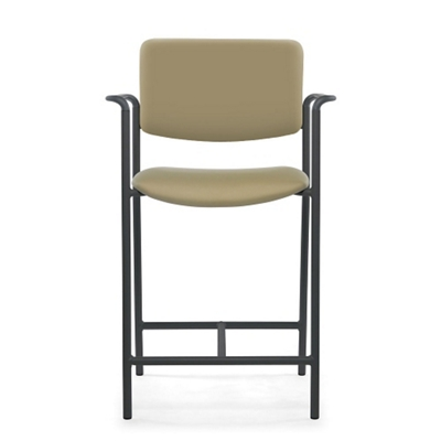 Guest Vinyl Hip Chair with Arms