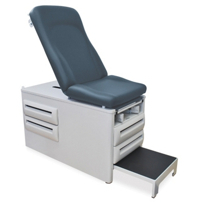 Exam Table with Stirrups and Four Drawers