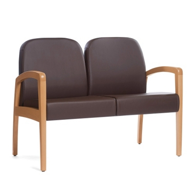 "Vinyl Guest Two Seater with 42""W Seat"