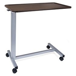 "Adjustable Height Overbed Table with Lipped Top - 30""W"