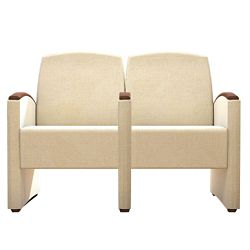 Behavioral Health Vinyl Two-Seat Guest Chair with Center Arm