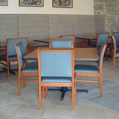 Armless Square Back Dining Chair