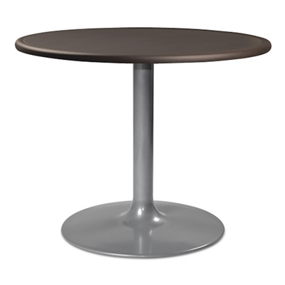 "Trumpet Base Dining Table with Bullnose Edging - 36""DIA"