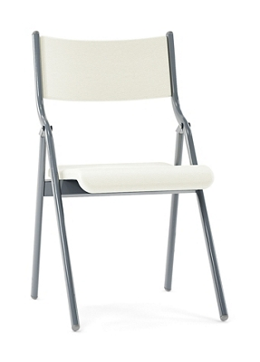 "Metal Folding Chair with Vinyl Seat and Back - 16""W"