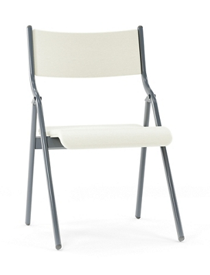 "Metal Folding Chair with Vinyl Seat and Back - 18""W"