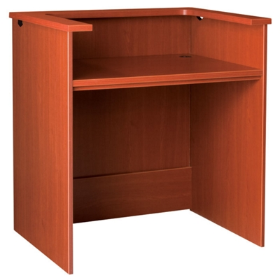 """Circulation Desk with Patron Counter - 42""""W x 30""""D"""