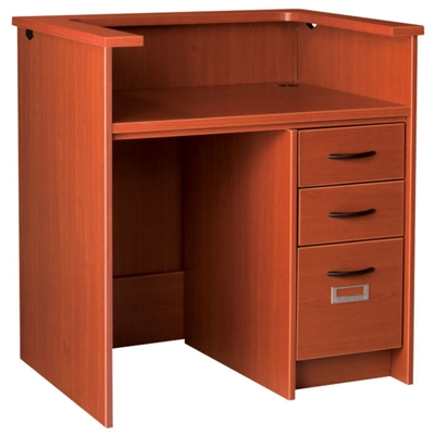 """Circulation Desk with Counter and Lockable Right Drawers - 42""""W x 30""""D"""