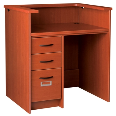 """Circulation Desk with Counter and Lockable Left Drawers - 42""""W x 30""""D"""