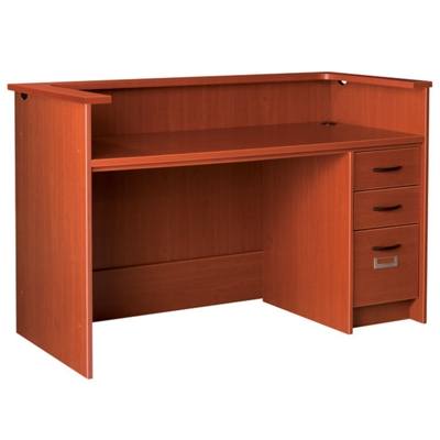 "Circulation Desk with Counter and Lockable Right Drawers - 60""W x 30""D"