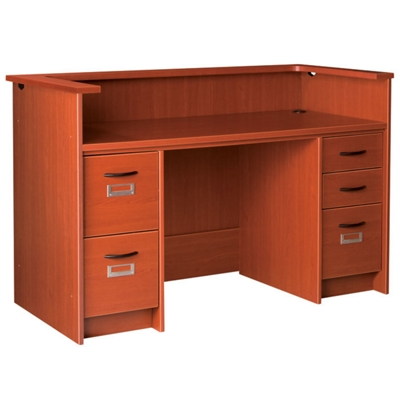 "Circulation Desk with Counter and Double Pedestals - 60""W x 30""D"