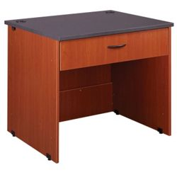 "Circulation Desk with Locking Drawer - 36""W x 30""D"