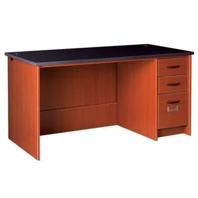 """Circulation Desk with Lockable Right Drawers - 60""""W x 30""""D"""