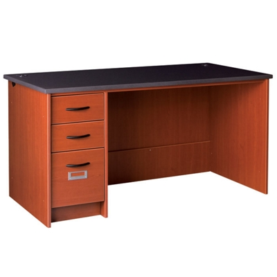 """Circulation Desk with Lockable Left Drawers - 60""""W x 30""""D"""