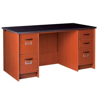 "Circulation Desk with Double Pedestals - 60""W x 30""D"