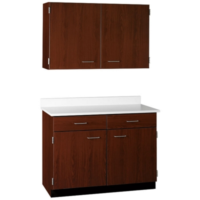 "Two Drawer, Four Door Wall and Base Cabinet Set - 48""W"