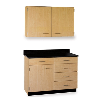 """Five Drawer, Three Door Wall and Base Cabinet Set - 36""""W"""