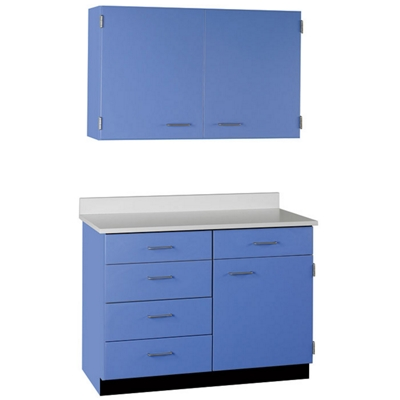 "Five Drawer, Three Door Wall and Base Cabinet Set  - 36""W"