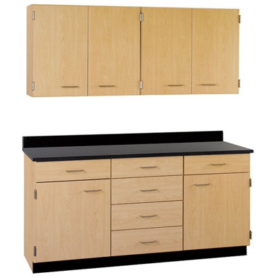 "Six Drawer, Six Door Wall and Base Cabinet Set - 60""W"
