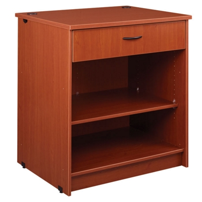 "Two Shelf Library Station with Drawer - 40""H"
