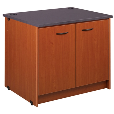 "Two Shelf Doored Library Station - 30""H"