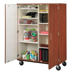 "67""H Mobile Storage Cabinet"