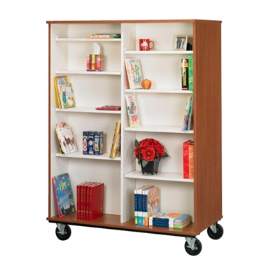 """67""""H Double Sided Book Cart"""