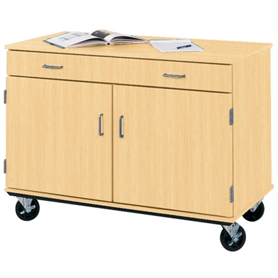 """36""""H Mobile Storage Cabinet with Utility Drawer"""