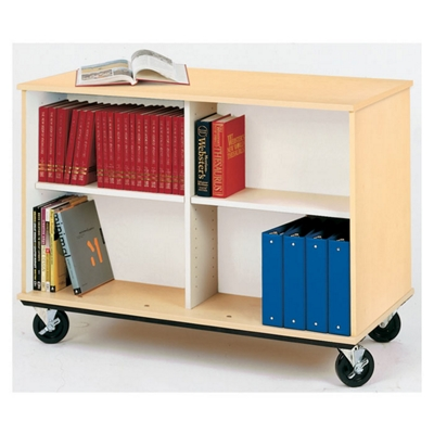 "36""H Double Sided Book Cart"
