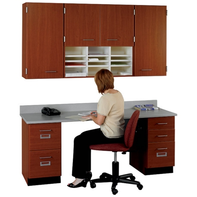 """60"""" W Cabinet Set with Workstation"""