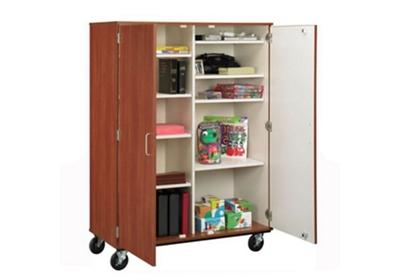 Mobile Divided Teacher Storage w/Lock