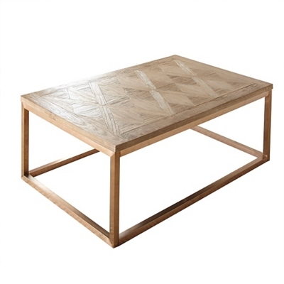 Parquet Veneer Top Coffee Table   48W   46260 And More Lifetime Guarantee