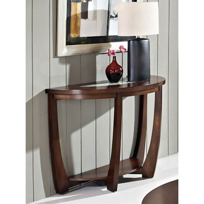 Half Round Sofa Table With Gl Insert