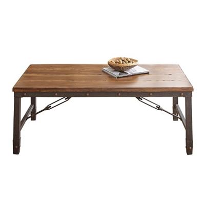 "Wood Top Coffee Table - 48""W"