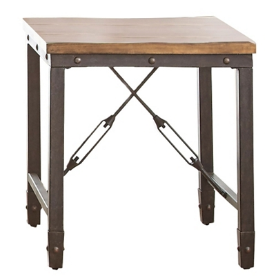 "Wood Top End Table - 23""W"